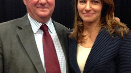 Sir Jim Paice with Conservative parliamentary candidate Lucy Frazer.