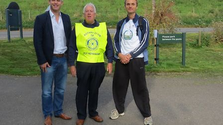 MP Stephen Barclay, Rotarian John Yates and Mark Nokkert, at last year's Ouse Washes Experience.