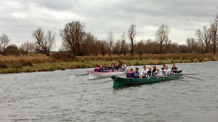 The commemorative event in 2008 used boats similar to those used in the original University Boat Rac