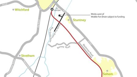 Network Rail hopes to upgrade the railway between Ely and Soham.
