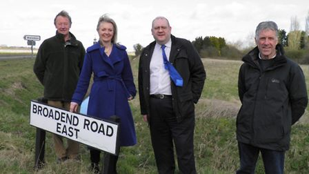 Photo: Elizabeth Truss MP, Brian Long , third from left, and Walsoken parish councillors. Pictures
