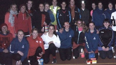 City of Ely and Cojags Netball Clubs joined together for Red Nose Day.