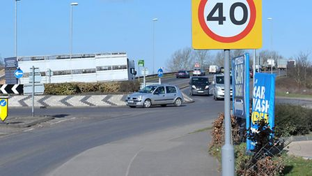 Speed signage, Wisbech Road, March. Picture:Steve Williams,