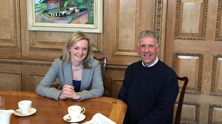 Elizabeth Truss MP and Fred Leach, Secretary of States office, DEFRA.