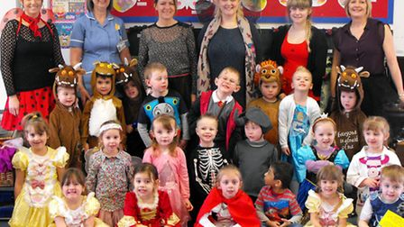 Burrowmoor pupils and staff dressed as their favourite fictional characters.