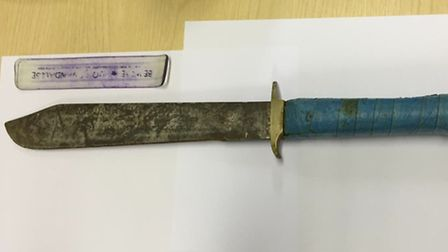 The knife used by Alan Powe
