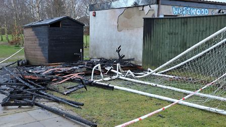 Soccer shed fire at Westwood School March. Picture: Steve Williams.