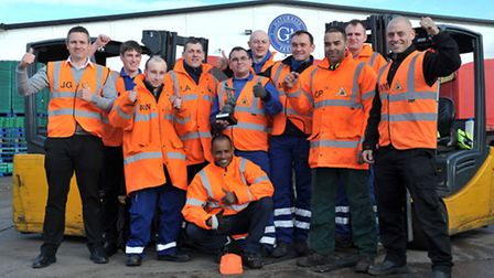 G's Beetroot March won a national award in fork lift truck safety for (Safe Site) at the Internation