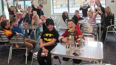 Pupils at St Mary's School get into the spirit of World Book Day.