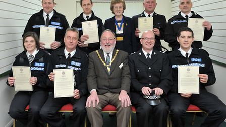 Whittlesey citizen of the year and cheque presentations.District Commander's Commendation to police
