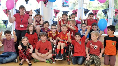 All children in fancy dress for undiagnosed children's day event.Heron Class. Picture: Steve William