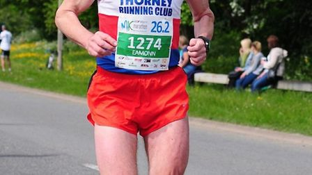 Eamonn Dorling was 15th in his age category in the London Marathon