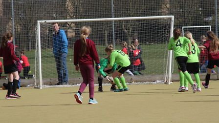Kingsfield Primary School Girls won the Witchford Sports Partnership football tournament.