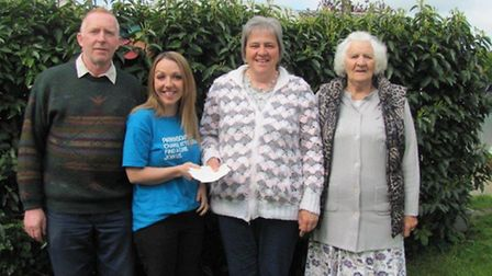 Peter White, Michelle Pullen, of Parkinson's UK, Claire White and Jean Gammon.