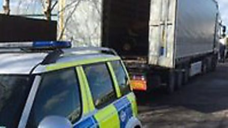 Stolen vehicles found in the back of a lorry