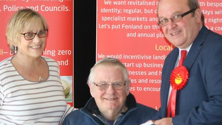 Labour's Ken Rustidge (right) at event held at March Town Hall