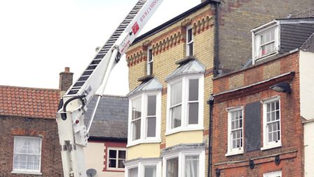 Flat fire above Norwich and Peterborough Building Society branch, Wisbech
