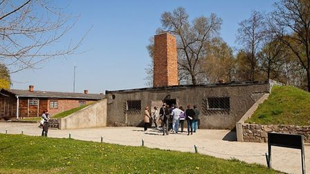 The entrance to the gas chamber at Auschwitz I. Picture: Yakir Zur.