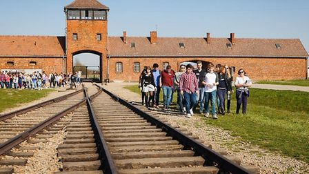 The rail road which runs through the middle of Birkenau. Picture: Yakir Zur.