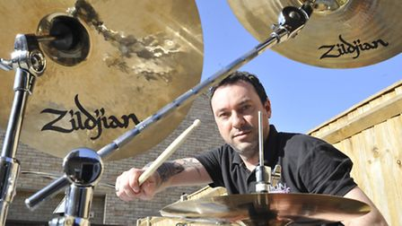 Jay Newling, from Sutton, who has organised a 24-hour drumathon to raise funds for Cancer Research.