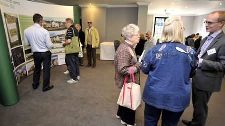 Public exhibition of McCarthy & Stone plans, at Poets House, Ely.