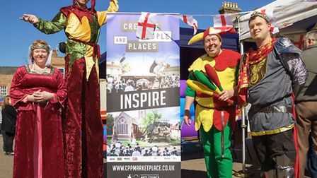 St George's Day at Wisbech Market Place and on the Horsefair. Picture: Barry Giddings.
