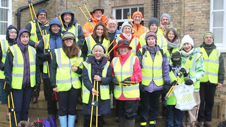 Volunteers joined in with a spring clean around Ely, on Sunday.