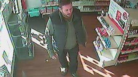Police would like to speak to this man in connection with a theft.