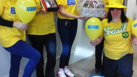 Norwich & Peterborough (N&P) Building Society workers raise money for Marie Curie.