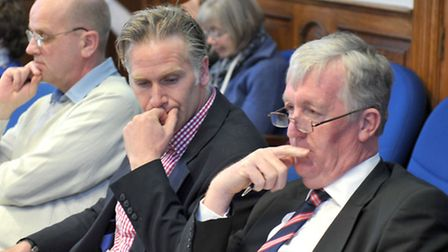 FDC Planning meeting.Charlie Boughton, Peter Humprey, Picture: Steve Williams.