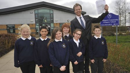 Littleport Community Primary School receive a good Ofsted report, Year 4, 5, 6 pupils with Head Teac