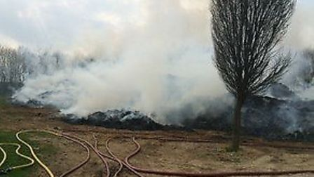 The scene of the fire at Six Mile Bottom.