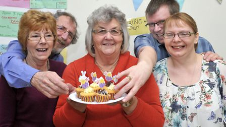 125 years of Coates village hall. Left: Chris and Pete Cranwell, Gaynor Hemmaway, Paul and Louise Be
