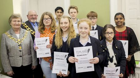 The Young Poet Laureate finalists.