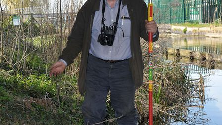 Otter and water vole tracking.Cliff Carson Middle level commissioners Enviromental officer..Picture: