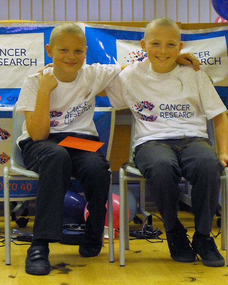 Sponsored head shave at Burrowmoor Primary