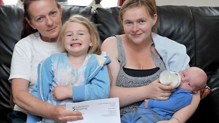 Sian Bond is living with her mum Tina Thompson until her Sanctuary Housing property is ready.