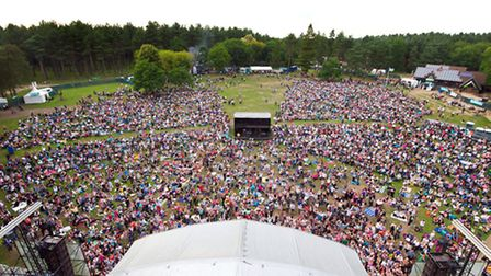 The concert is held in a relaxed atmosphere within Thetford Forest.