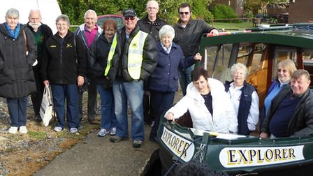 March Lions took part in a boat trip in aid of EACH.