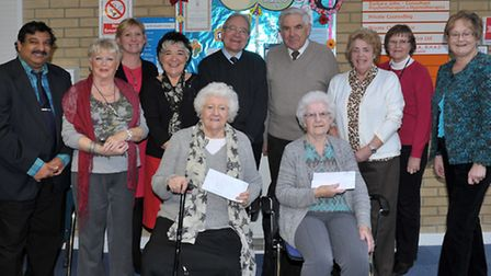 New Queen Street surgery, Whittlesey. Cheque presentation.Picture: Steve Williams.