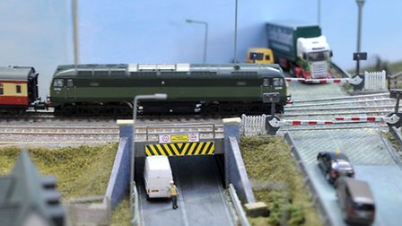 Ely model railway club annual exhibiton. Ely crossing and bridge. Picture: Steve Williams.