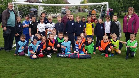 March Lions bought equipment for March Soccer School.