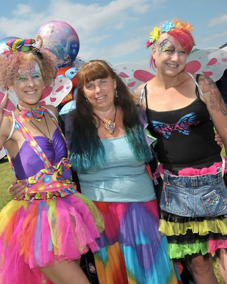 Rainbow Summer Solstice Festival 2014. Party Angels. Picture: Steve Williams.