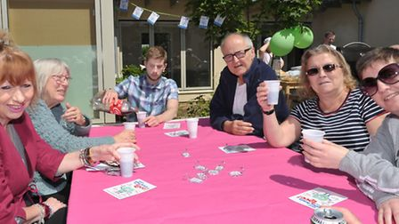 BBQ to celebrate end of activities for Brain Injury Awareness Week at Fen House, Ely. Picture: Steve