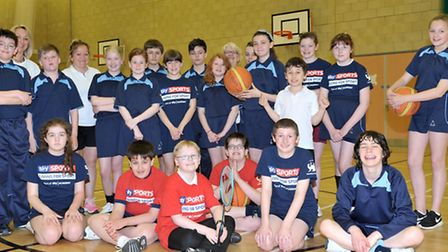 Sky Sports Living for Sport activities. Cromwell Community College, Chatteris. Picture: Steve Willia