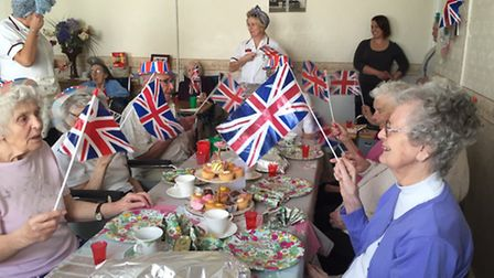 The Hermitage in Whittlesey held a VE party.
