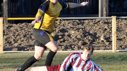 March Reserves in action earlier this season. Picture: Steve Williams.