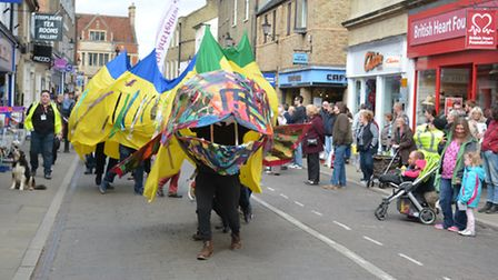 Ely Eel Day, the parade in the High Street,