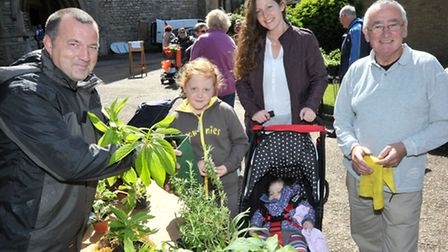 A shot from last year's St. Peters Church Garden and Flower Festival. Lisa, Lily and Ruby Lofting bu