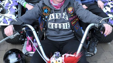 Crowning Around bike show at Littleport. Bowen family on Beryl the trike. Picture: Steve Williams.